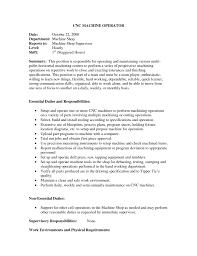 Cnc Machine Operator Resume Sample Rojnamawarcom