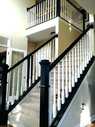 replace stair railing cost to install and baers replacing spindles on stairs average wonderful glass