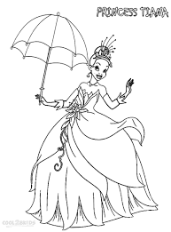 Cool Printable Princess Tiana Coloring Pages For Kids Free