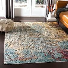 orange and blue area rug bohemian orange amp blue area rug annan handmade blue orange area