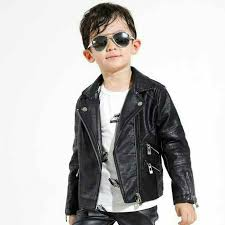 jaket kulit semi leather jacket anak anak kids children motor elat