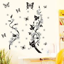70x50cm diy wall stickers home decor flowers erfly removable wall paper stickers art