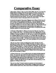 comparative essay comparing a women to her lover by christina page 1 zoom in