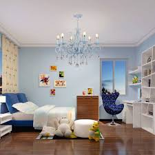 livingroom lighting. HGHomeart Blue Chandelier LED Lustre Suspension Nursery Chandeliers Iron Lamp Bedroom Lights Restaurant Livingroom Lighting-in From Lighting