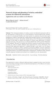 Network Design Paper Network Design And Planning Of Wireless Embedded Systems For