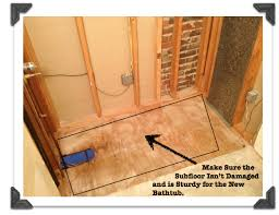 awesome installing a new bathtub small home decor inspiration claw foot tub installation surround demolition how tos diy drain faucet and tile