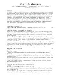 Sample Administrative Assistant Resume Objective Best Of Sample Resume For Administrative Assistant Office Manager Also Here