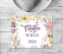 Custom Quote Prints Purple floral borderPersonalized QuoteCustom WatercolorCustom 27