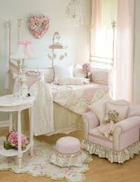 shabby chic baby nursery with pink decor
