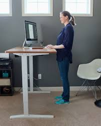 i love my new standing desk this one adjusts from 24 5 to 50 5