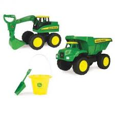 15 big scoop 2 pack dump truck excavator w john deere bucket shovel ertl