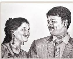 Pencil Sketches Of Couples Pencil Sketching Couple Pencil Sketch Manufacturer From