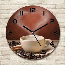 glass wall clock fi 30 cm aromatic
