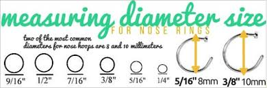 Size Chart For Nose Rings Nose Ring Sizing How To Get A Perfect Fit Bodycandy