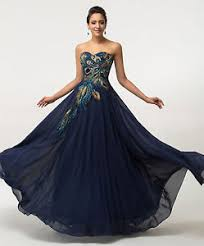 ball gown for plus size new peacock formal evening gown prom chiffon bridesmaid wedding