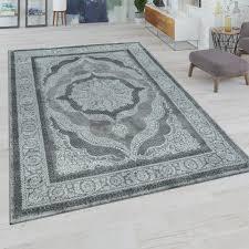 Kurzflor Teppich Orient Ornamente Grau