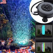 Details About Led Aquarium Air Bubbler Stone Auto Multi Colored Led Lights For Fish Tank Pump