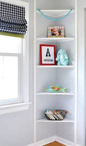 Storage & Organization: Built In Corner Wall Shelves Ideas - Corner Shelves
