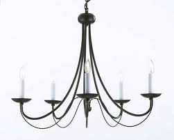luxury black candelabra chandelier 24 bowey 5 light candle style