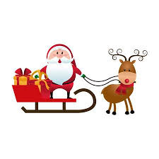 santa claus and reindeer. Delighful Santa Christmas Santa Claus Reindeer Sledge Gifts Cartoon Vector Illustration  Stock Vector  78544846 In Santa Claus And Reindeer R