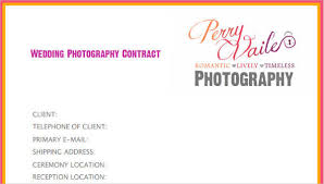 9 Photography Contract Templates Free Sample Example Format Download