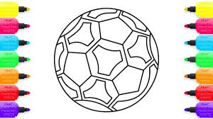 Small Picture Coloring Pages Soccer Ball How to Draw Toys for Children
