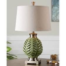 tropical table lamps. Uttermost Flowing Fern Green Table Lamp Tropical Lamps D