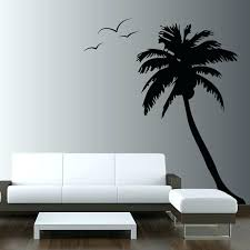 tree silhouette wall art palm tree wall decals huge palm coconut tree wall decal seagull birds