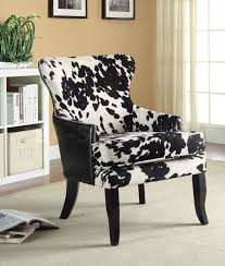 accent chairs blackwhite cowhide print accent chair coa