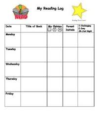 First Grade Reading Log Daily Or Weekly Reading Log For Pk 2 Weekly Reading Logs