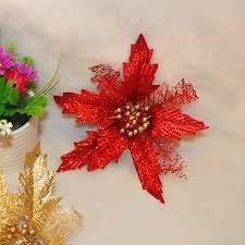Amazonde Hohl Glitzer Weihnachtsstern Fake Blume