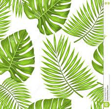 Naadloos Behang Met Groene Tropische Bladeren Voor Stoffenmonster