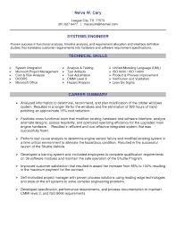 senior system engineer sample resume
