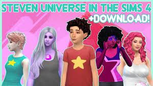 STEVEN UNIVERSE IN THE SIMS 4 + SIM & CC DOWNLOAD | PEARL, AMETHYST,  GARNET, ROSE QUARTZ, & STEVEN - YouTube