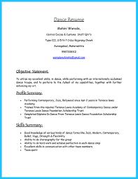 Modern Dance Resume Child Dance Resume Template Templates Dancer Sample Filename Heegan