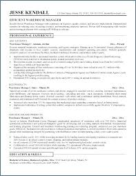 Supervisor Resume Template Resume Template Warehouse Supervisor ...