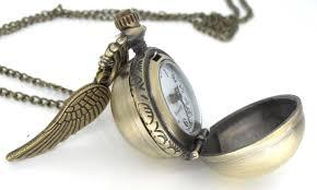 harry potter snitch pocket watch necklace