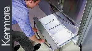 how to remove bottom freezer drawers kenmore elite refrigerator you