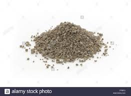 garden gypsum granules soil amendment organic fertilizer mineral used in horticulture and gardening closeup of an isolated