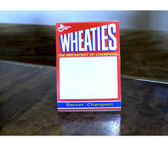 wheaties cereal box soccer champion