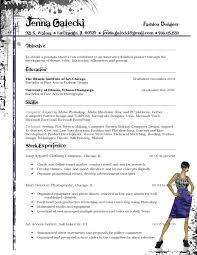 resume fashion designer