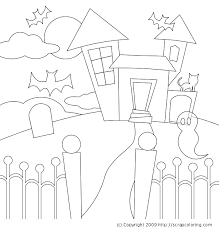 Small Picture Printable Haunted House Template Coloring Coloring Pages