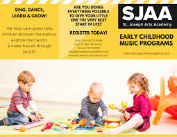 Level 1ages 1 to 2. Early Childhood Music Classes St Joseph Arts Academy