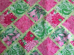 Lilly Pulitzer Fabric 3 Patches Of Lilly Pulitzer Fabric Jubilee Bamboo Patch 2009