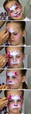 easy kitty cat diy face painting ideas for kids easy makeup ideas