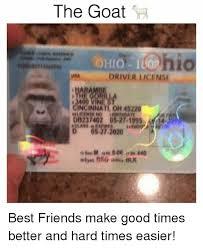 License Cincinnati Me And 0527 Best Easier 45220 14 On Times 27-2020 Goat Good Oh 1995 The Better Friends Make Driver Hard Hen Meme Db237402 me Una Friend