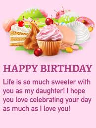 Birthday Cake Cards For Daughter Birthday Greeting Cards By