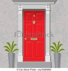 house door clipart. Red Door - Csp15484865 House Clipart 0