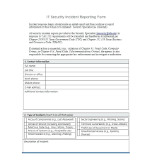 Printable Social Security Disability Forms Lovely Incident Report ...