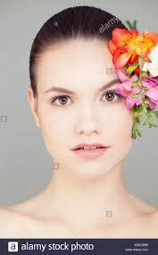 natural makeup cute face spa beauty skincare concept